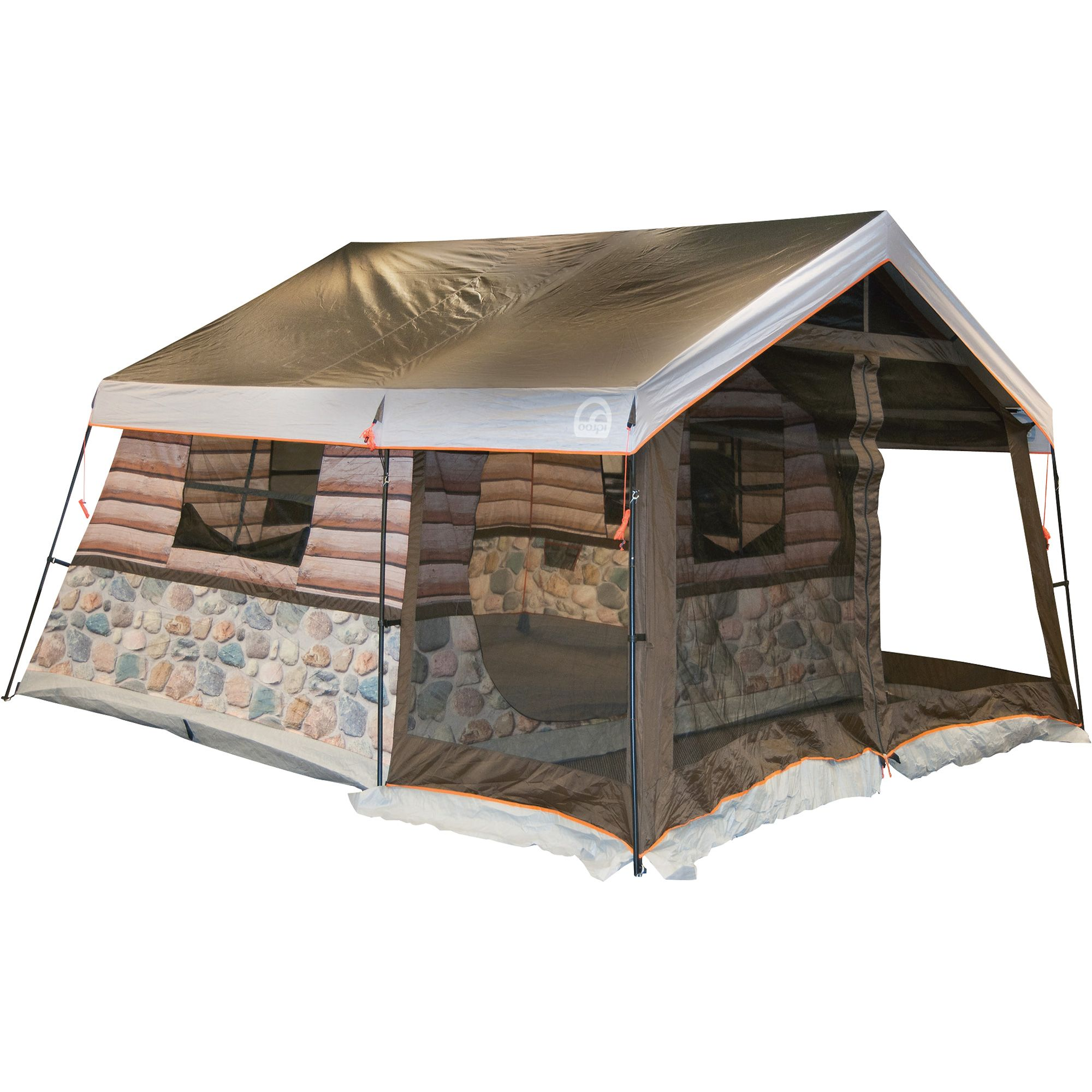 Igloo Log Cabin Tent u2014 Front Porch and All  sc 1 st  Pinterest & Igloo 8-Man Log Cabin Tent | www.kotulas.com | Free Shipping ...