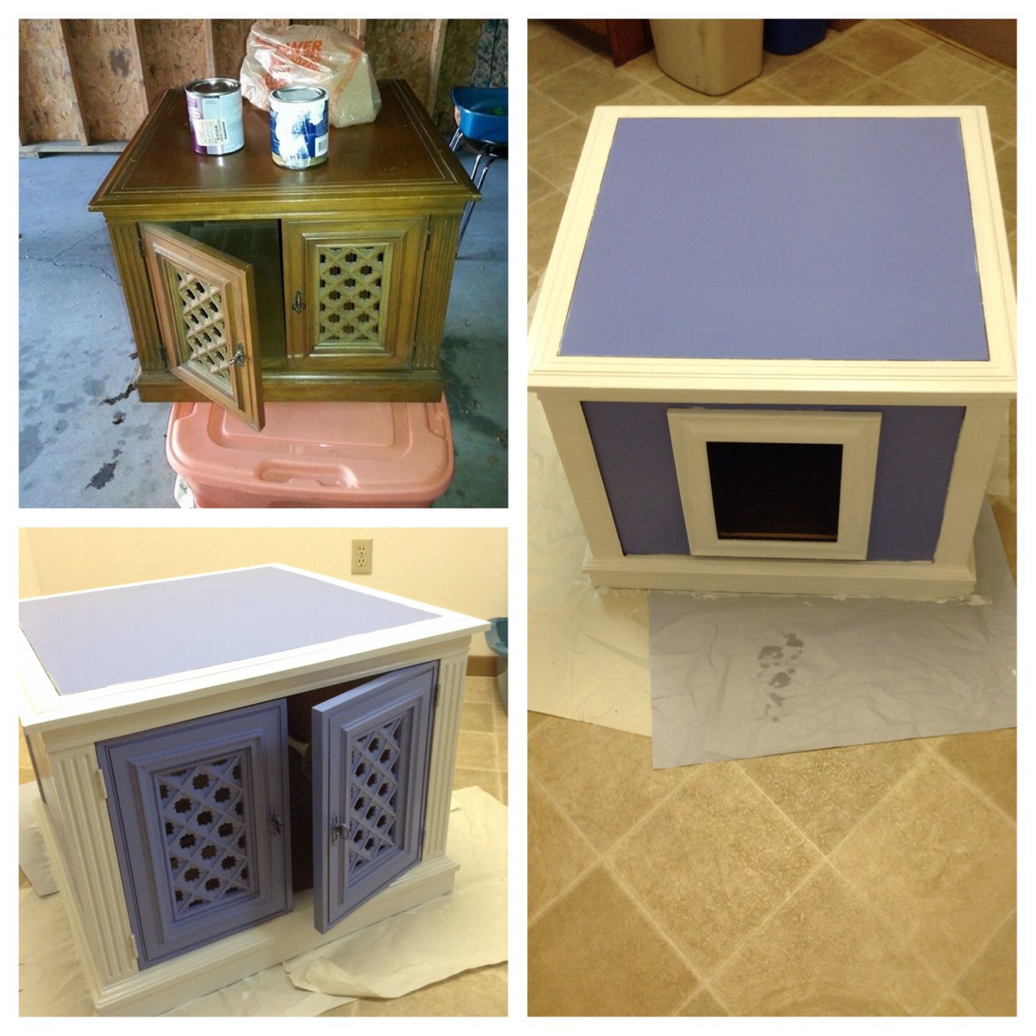 Cat litter box cabinet bought the cabinet for and an ugly frame