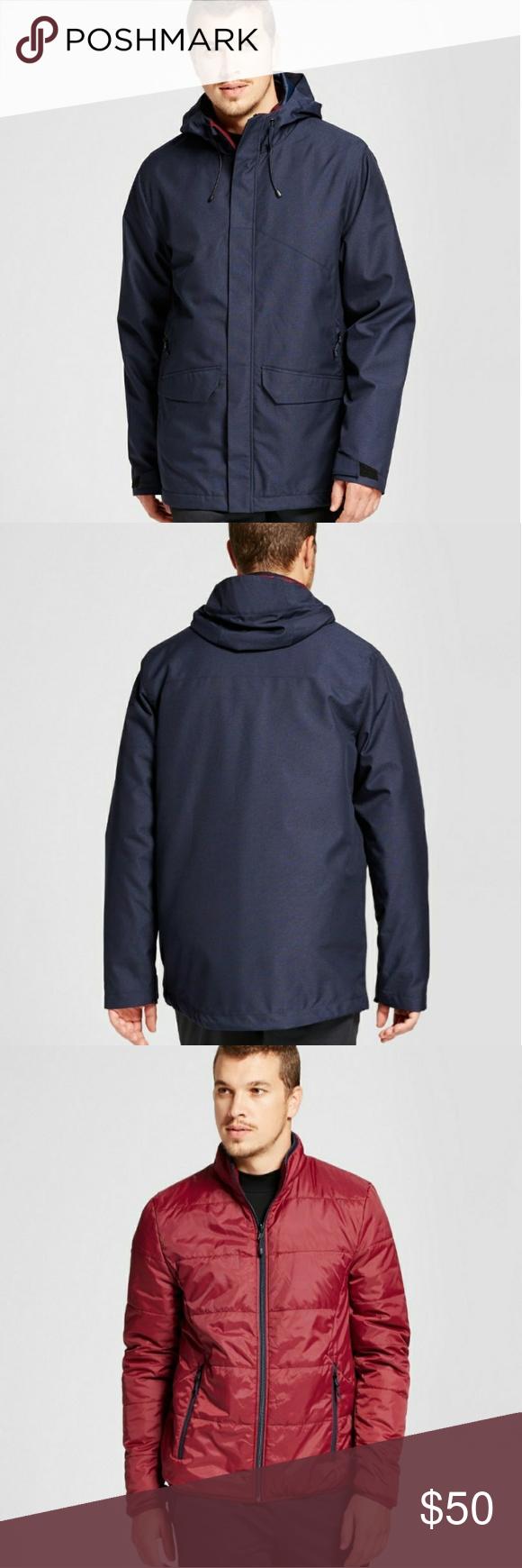 Men S 3 In 1 Jacket C9 Champion Champion Jacket Jackets Mens Jackets [ 1740 x 580 Pixel ]