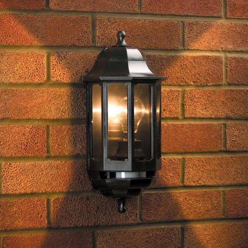 Asd Coach Pedestal Lantern: ASD Coach Half Lantern Outdoor Wall Light With PIR Sensor