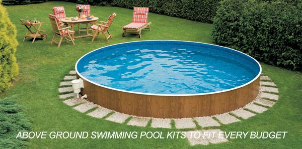 On ground swimming pools google search swimming pools for Above ground pool ideas on a budget