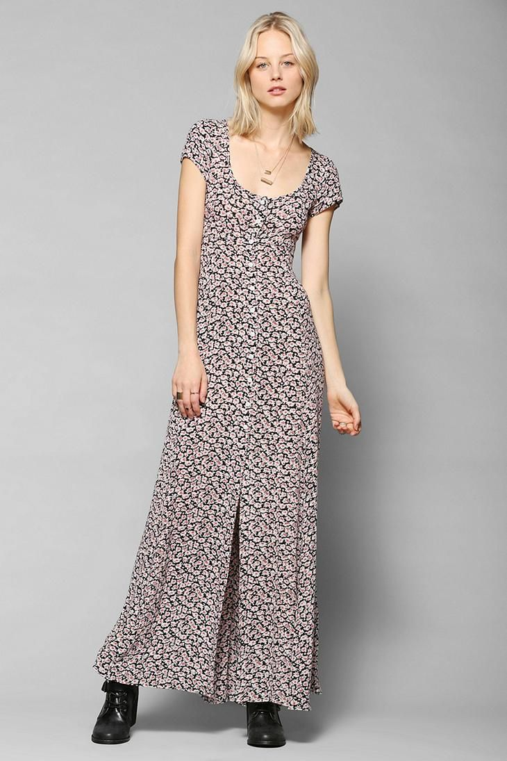 997bfa3741 Kimchi Blue Georgina Button-Down Maxi Dress  urbanoutfitters