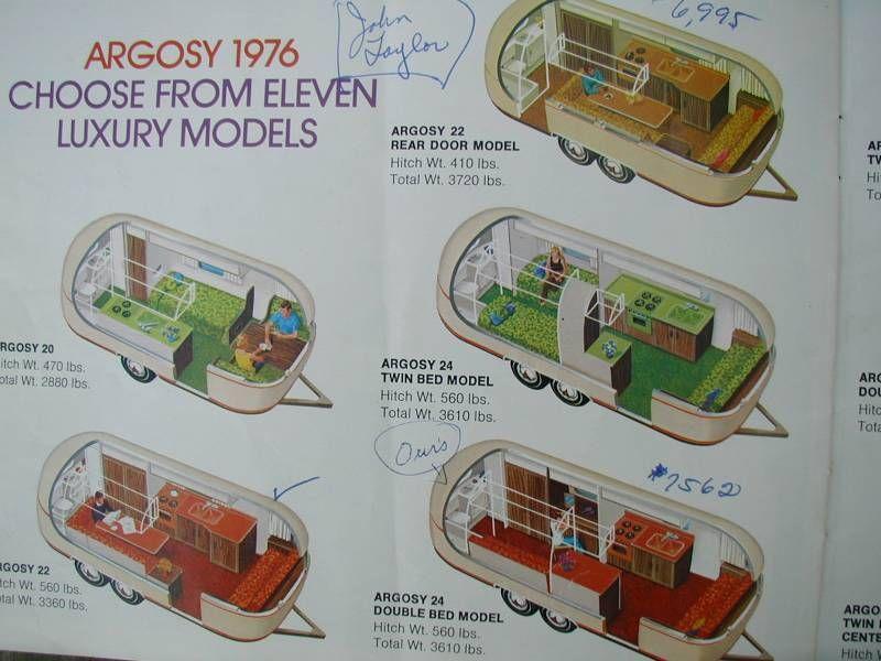 1976 Airstream Argosy Catalogue | Airstream Renovation
