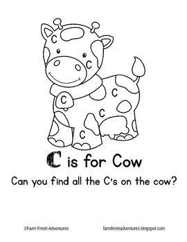 Phonics Farm C Is For Cow Preschool Letters Letter C