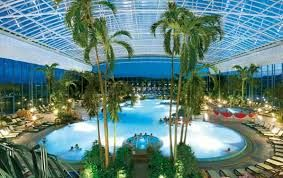 Wibre Pool Lighting In A German Aquatic Center With Images Beautiful Pools Pool Spa Design