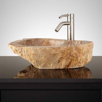 Escudero Petrified Wood Vessel Sink Root furniture Pinterest
