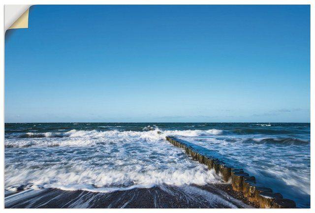 Wandfolie »Rico Ködder: Buhnen an der Küste der Ostsee« #filmposterdesign