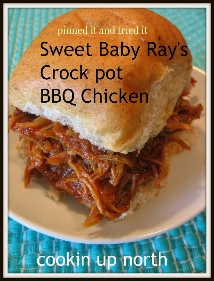Photo of Sweet Baby Ray's Crock pot Chicken..pinned it and tried it