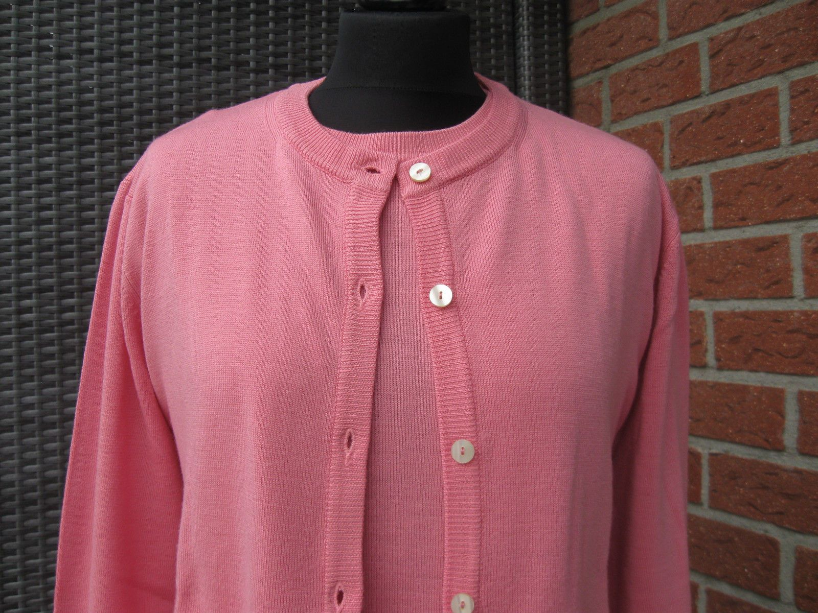 Peter Hahn Twinset Strickjacke+ Pullover Gr. 46 pure