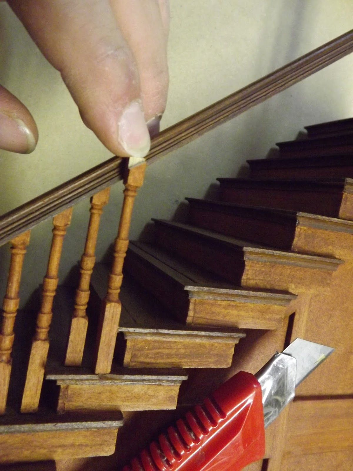 Tutorial Staircase Balusters Doll House Miniature Dollhouse Furniture Dolls House Interiors