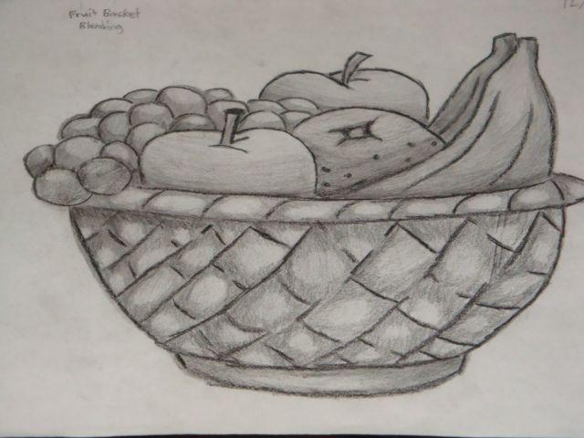 amazinglty draw fruit bowl | Fruits Basket Shading by PrinceInDeepThought on DeviantArt | Fruit bowl drawing, Drawings, Fruit basket drawing