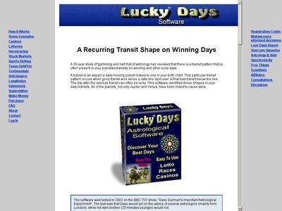 Lucky Days Astrology Software for Gambling | Video Keno | Astrology