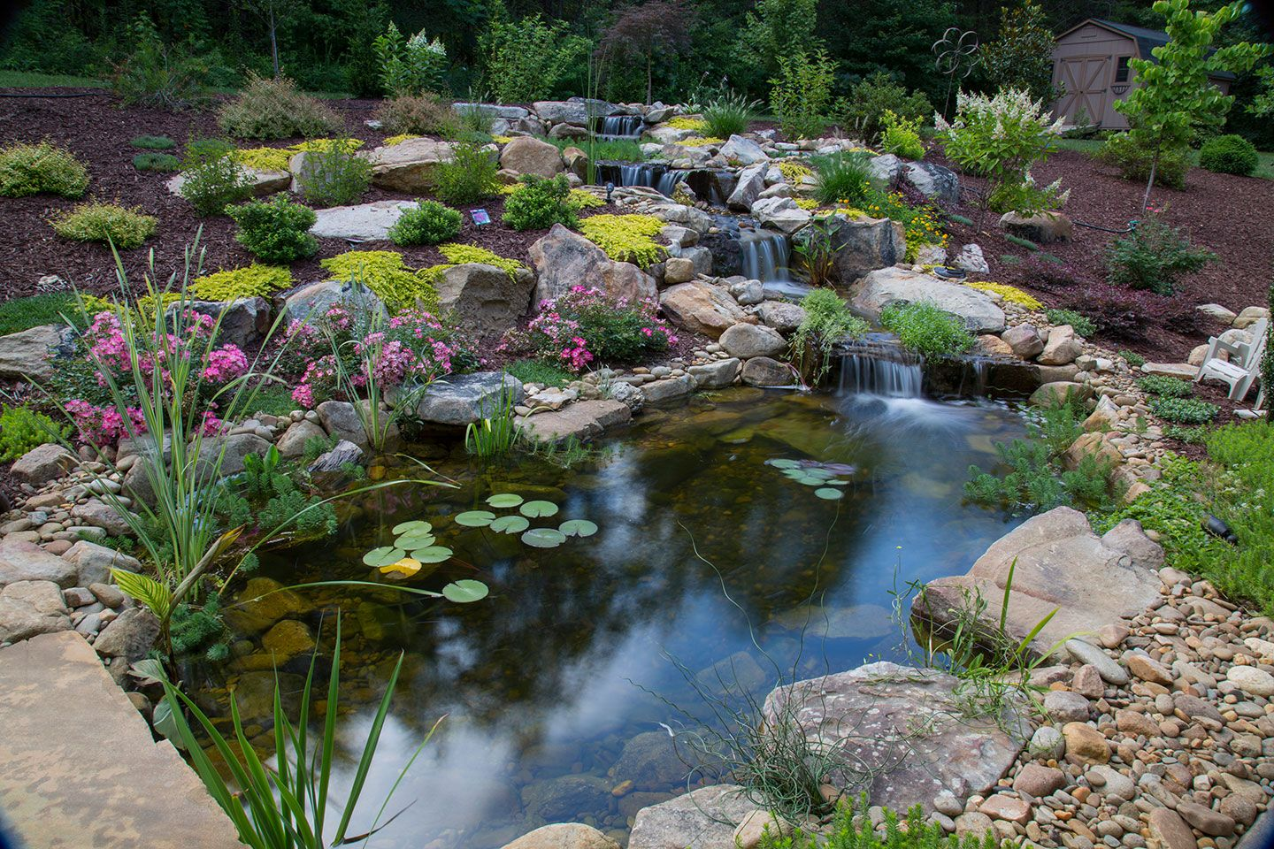 A Customer S Serenity Deluxe Pond Built By Living 400 x 300