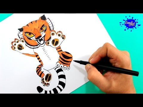 How to paint tigress (kung fu panda 3) / Como pintar a tigresa (kung ...