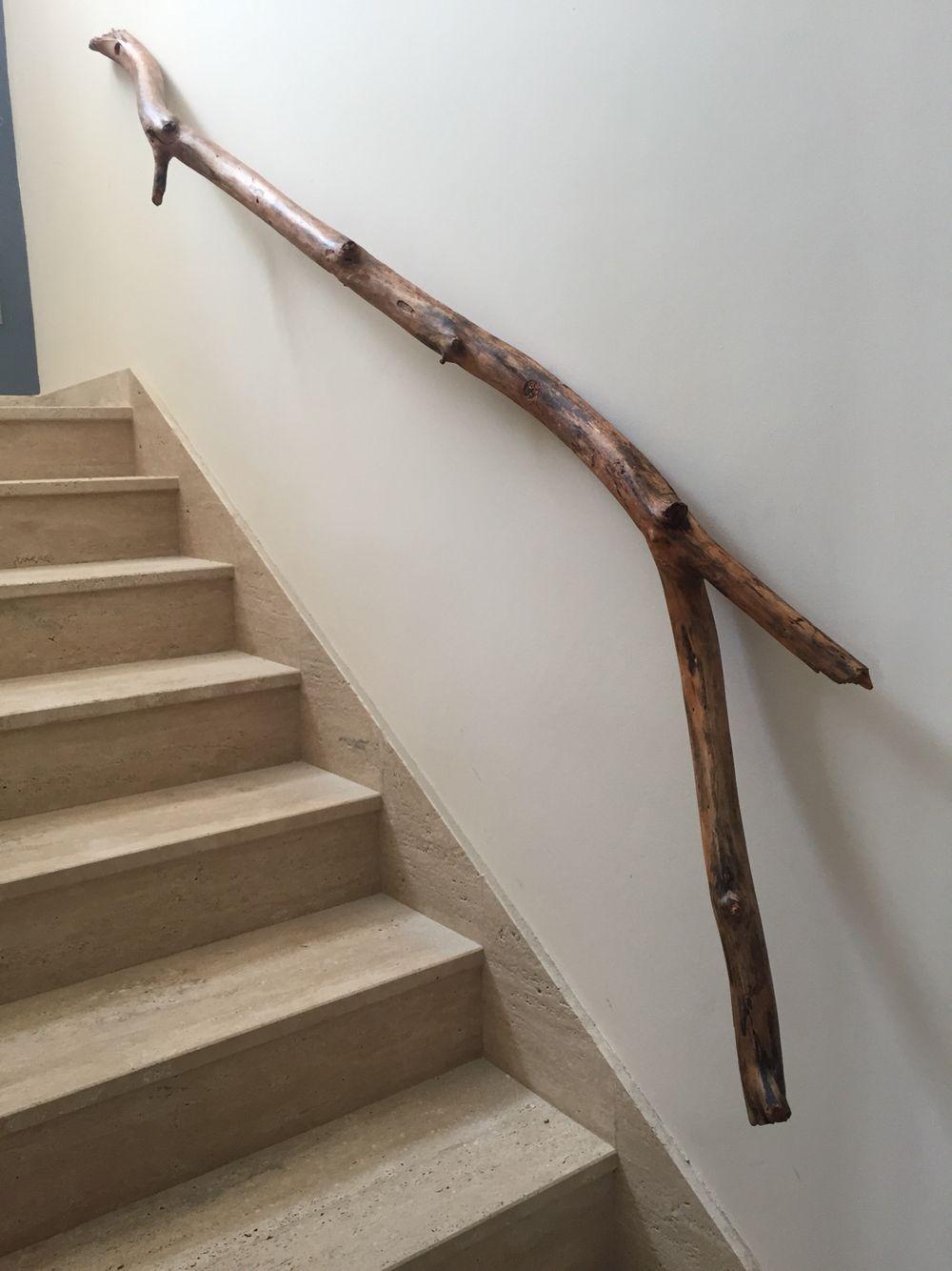 Pasamanos de escalera de tronco de las terrenas deco for Pasamanos de escaleras