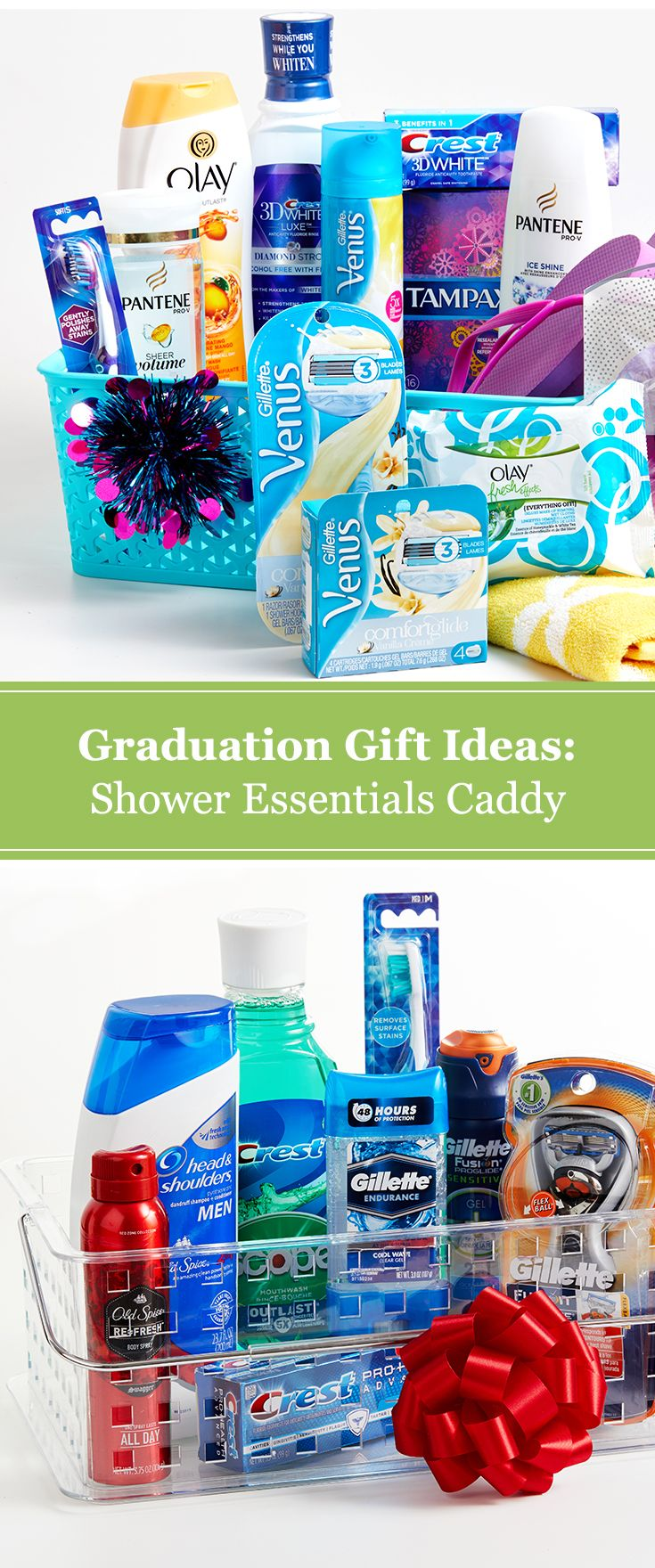 Graduation gift idea: DIY shower essentials caddy. Prep high school ...