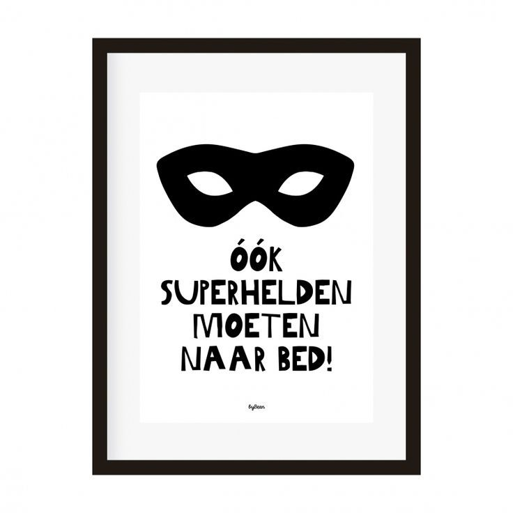 poster a4 ook superhelden moeten naar bed! (bedman) decoratie, Deco ideeën