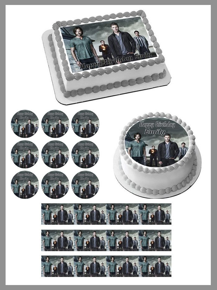 30x 4cm SUPERNATURAL NEW EDIBLE FONDANT//WAFER FAIRY CUPCAKE TOPPERS