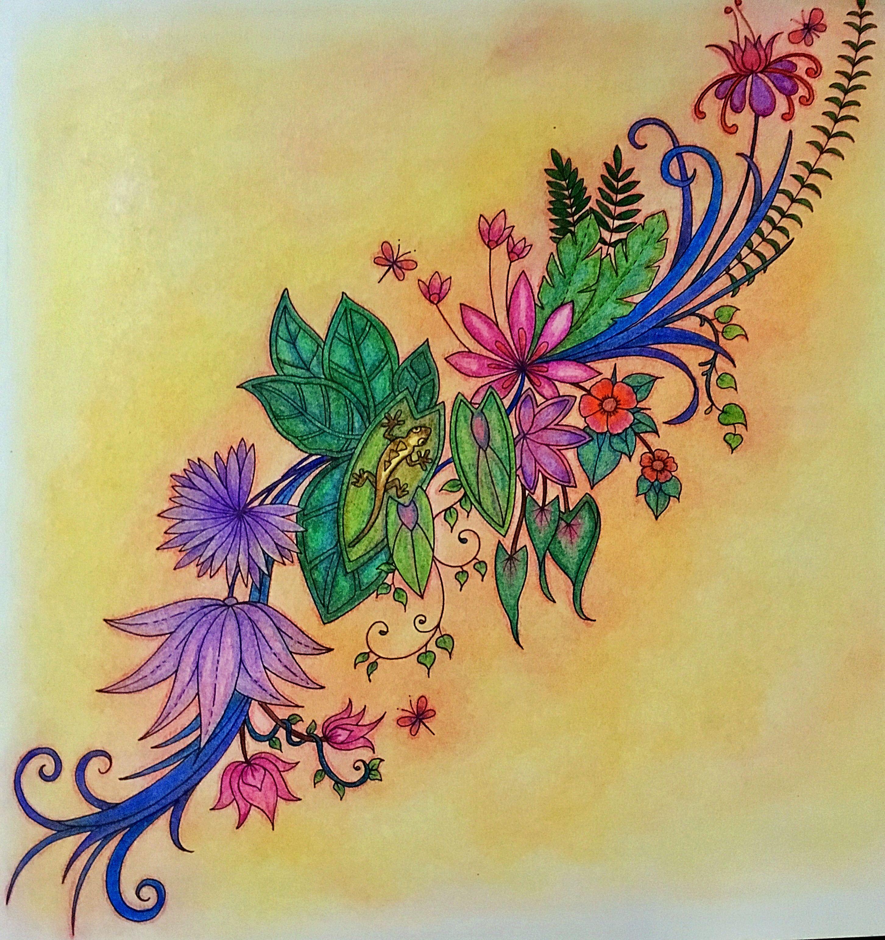 Magical Jungle Johanna Basford | Paletas de Colores para Libros para ...