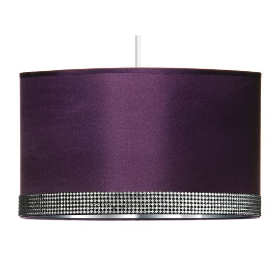 Radiance Purple Pendant Shade With Diamantes 2501278 Furniture In Fashion Purple Lamp