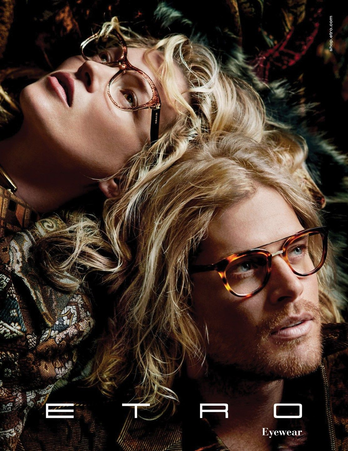 Fashion style Moss kate for etro fall campaign for girls