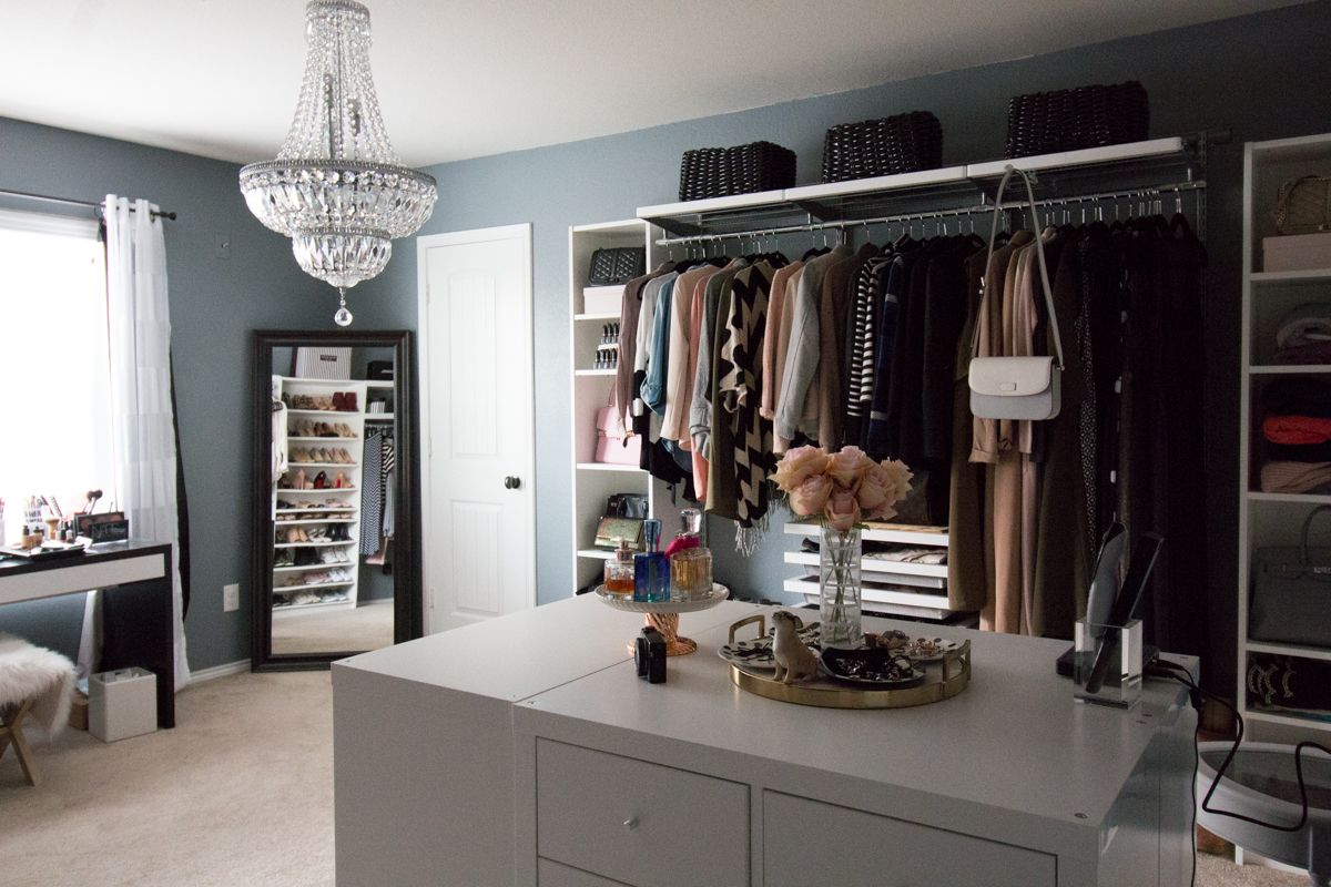Diy Island For Dressing Room Using Ikea My Dream Walk In Closet Spare Bedroom Turned Dressing Room Dre Closet Bedroom Dressing Room Design Small Room Ikea