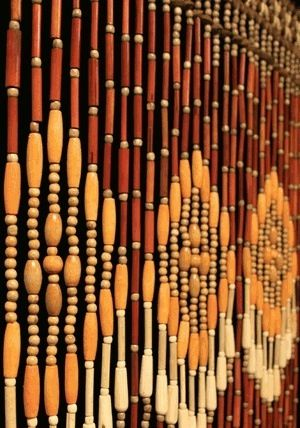Wood beaded curtains | Daze of My Youth ☮ | Pinterest | Bead ...