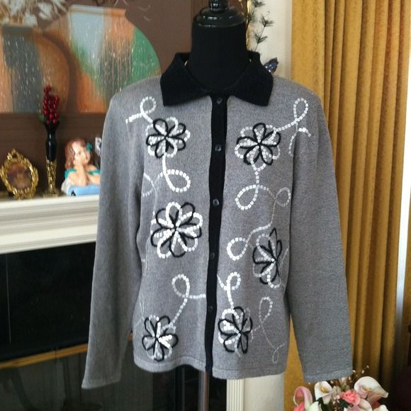 Black gray coat. price is Firm. Beautiful worn twice looks new Alfred Dunner Jackets & Coats