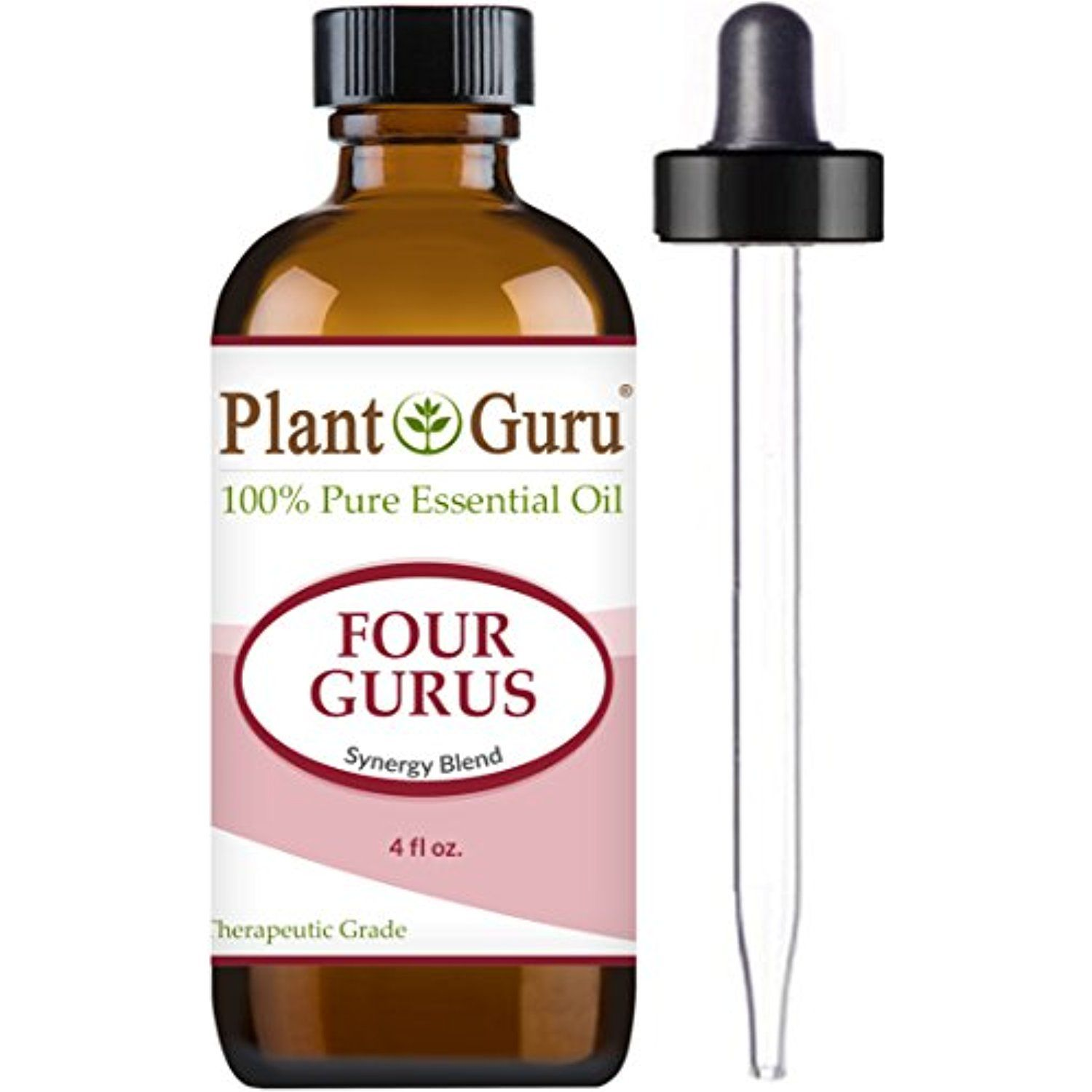 Four Gurus Synergy Blend Essential Oil 4 oz. - 100% Pure Therapeutic ...