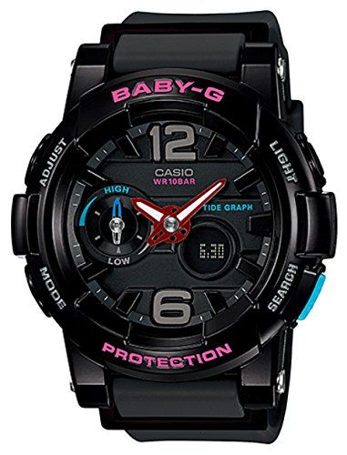 I DON T KNOW IF THIS ONE HAS A SECOND HAND. G-Shock Womens BGA180 Glide  with Tide Graph Baby-G Series Designer Watch Black One Size Casio 5afe15582