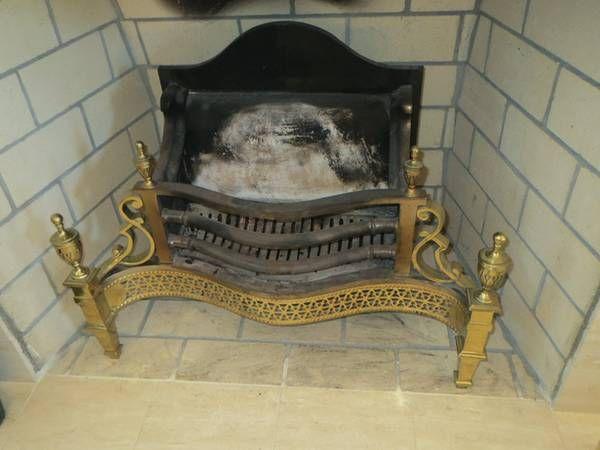 English Brass Fireplace Grate/Log Holder-VINTAGE FIND! - $75