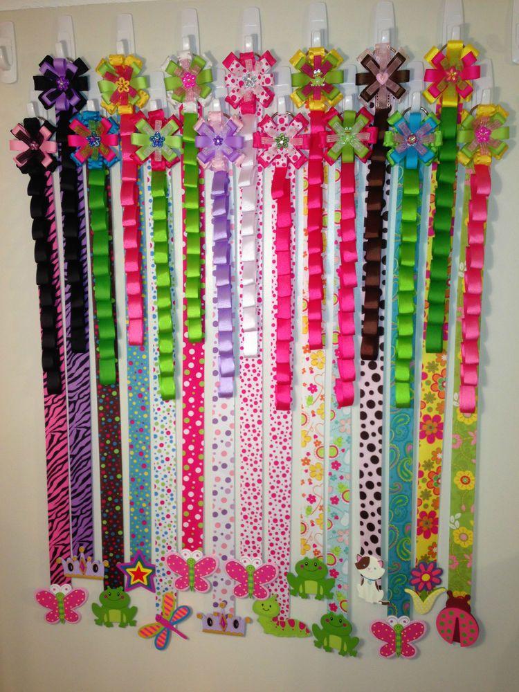 Beautiful high quality combo hair bow headband holders - Ideas para colgar diademas ...