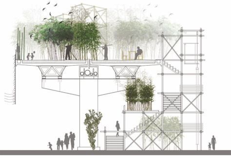 Bamboo Urban Metamorphosis By Oam Architecture Landscape