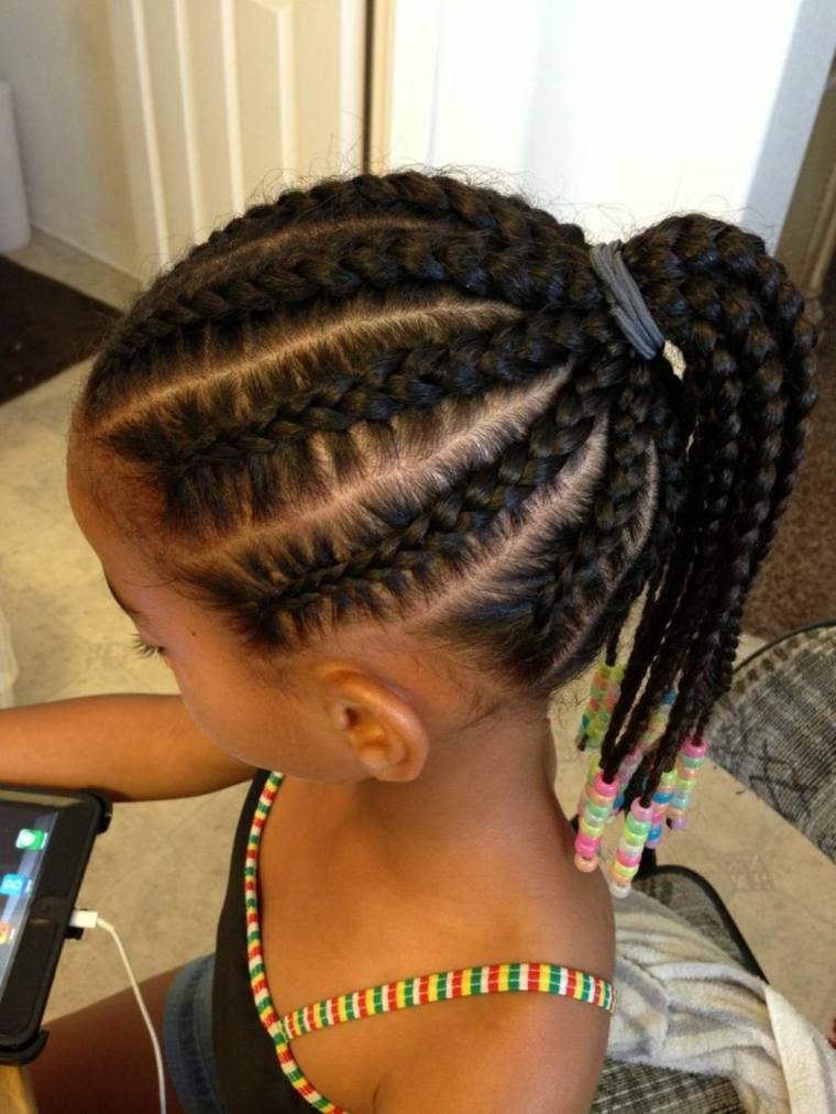 Coiffure facile pour petite fille attachez les cheveux