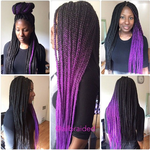 Incredible Purple Box Braids I Dont Like How Its On Part Of The Head Hairstyle Inspiration Daily Dogsangcom