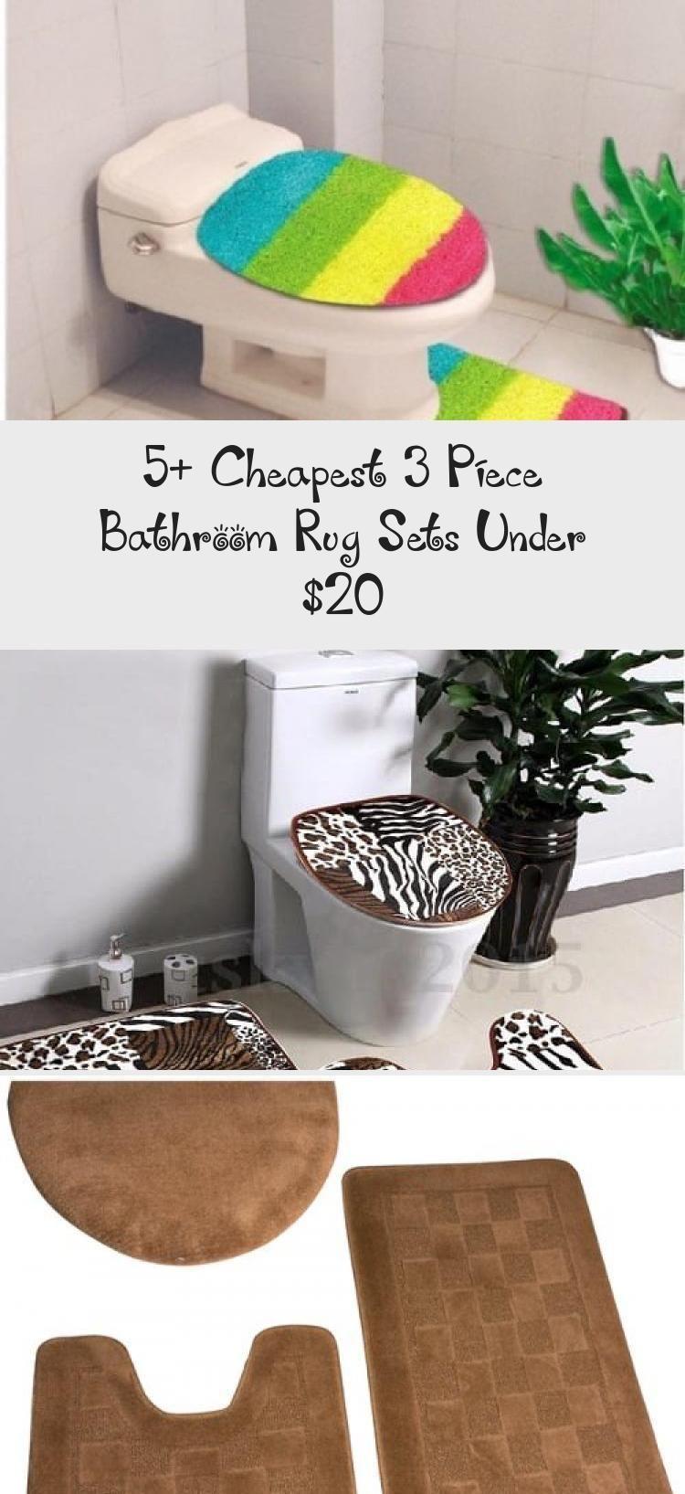 5 Cheapest 3 Piece Bathroom Rug Sets Under 20 Brushed Gold