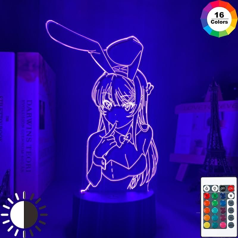Rascal Does Not Dream Of Bunny Girl Senpai LED Lamp - DM340 / 16 color with remote