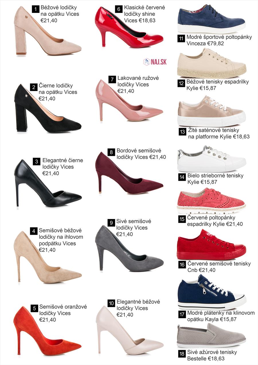 d319d67ae8a0 Lodičky a poltopánky z novej kolekcie obuvi