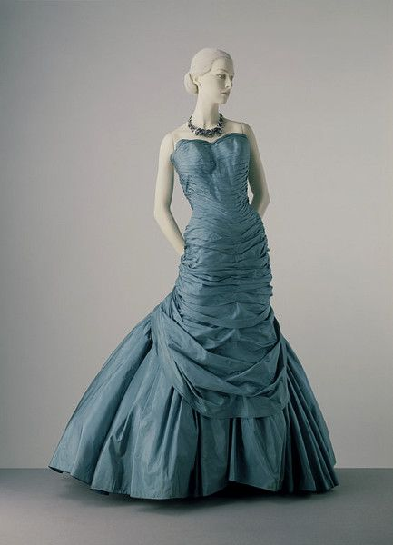 Evening Dress Charles James 1806 1978 New York 1955 Silk Taffeta Bodice Mounted On A Boned Foundation Skirt Supported By Net And Cotton Webbing