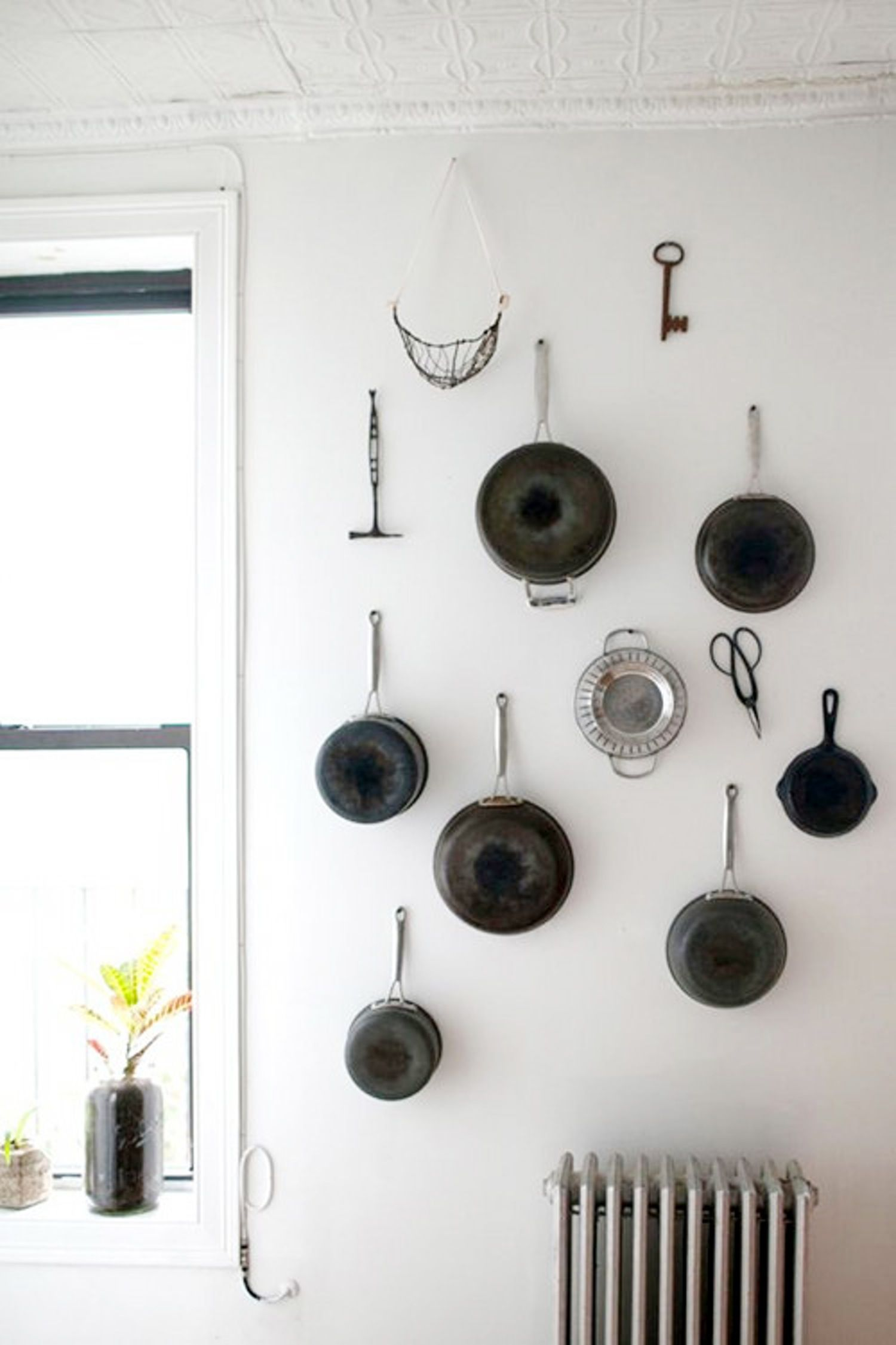 Look! A Wall of Pots & Tools in the Kitchen