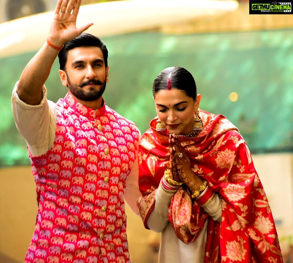 Actor Ranveer Singh Actress Deepika Padukone Wedding Photos Gethu Cinema Deepika Padukone Deepika Padukone Style Bollywood Celebrities