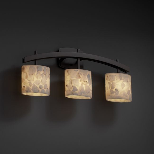 Upstairs Bath Or Downstairs Archway Alabaster Rocks 3 Light Bathroom Vanity Bar By Justice Design Asian Lighting
