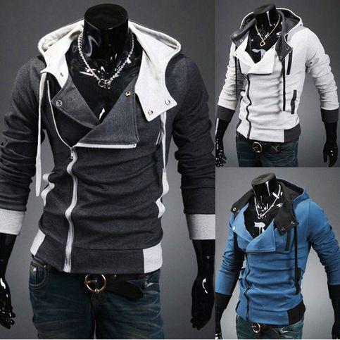 Men Hoodies Costume Coat Jackets   Slim fit hoodie