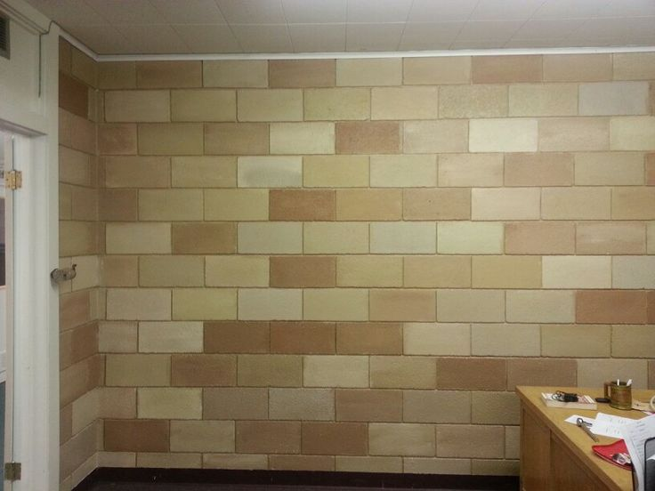 Decals for outdoor cement block wall google search - Interior cinder block wall ideas ...