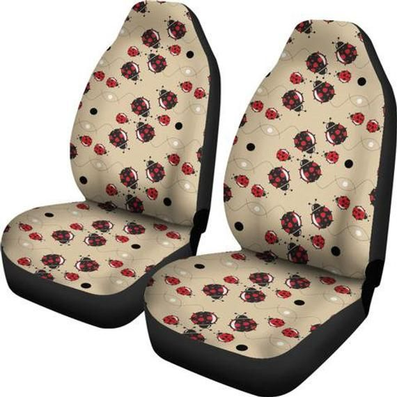 Excellent Lady Bugs Car Seat Covers 4 Car Accessories Car Accessory Ocoug Best Dining Table And Chair Ideas Images Ocougorg