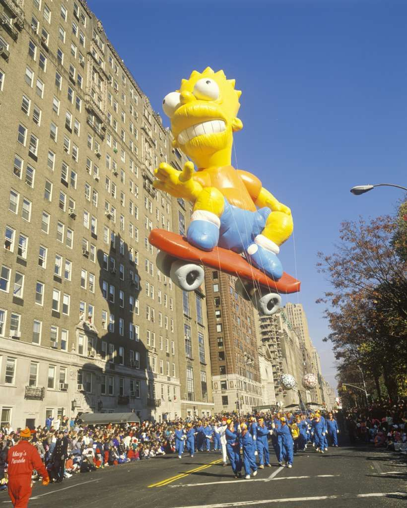 The Bart Simpson Balloon Which Joined The Parade In 1990 Is Seen During Macy S Thanksgiving Day Parade Macy S Thanksgiving Day Parade Thanksgiving Day Parade