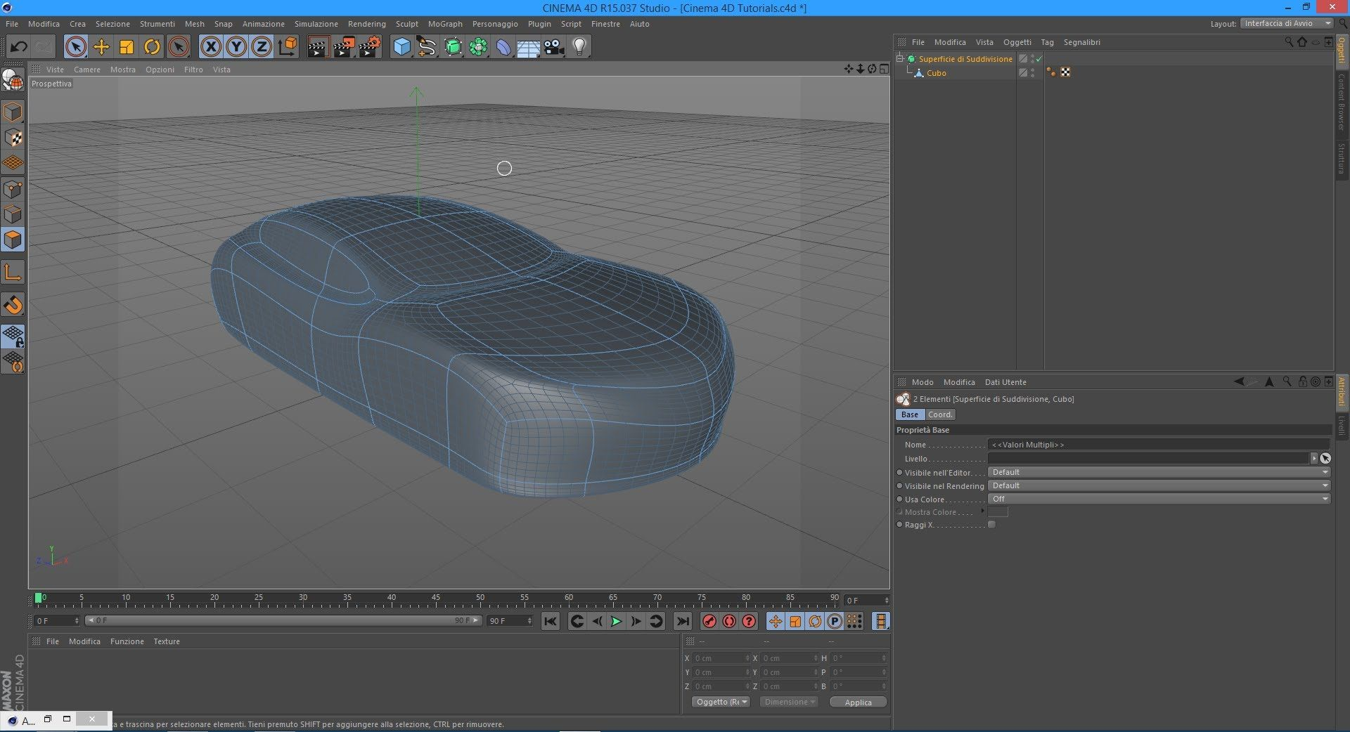 Tutorial how to model a car in cinema 4d starting from a cube tutorial how to model a car in cinema 4d starting from a cube malvernweather Images