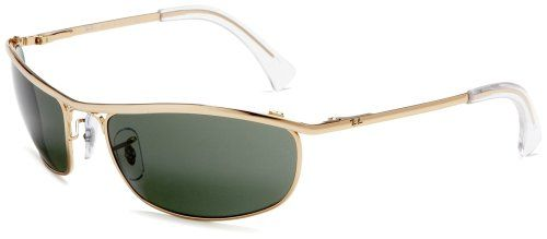 0f8e2b0d04 Ray-Ban RB3119 RB3119Oval Sunglasses 62 mm, Gold Frame/Green G-15XLT Lens