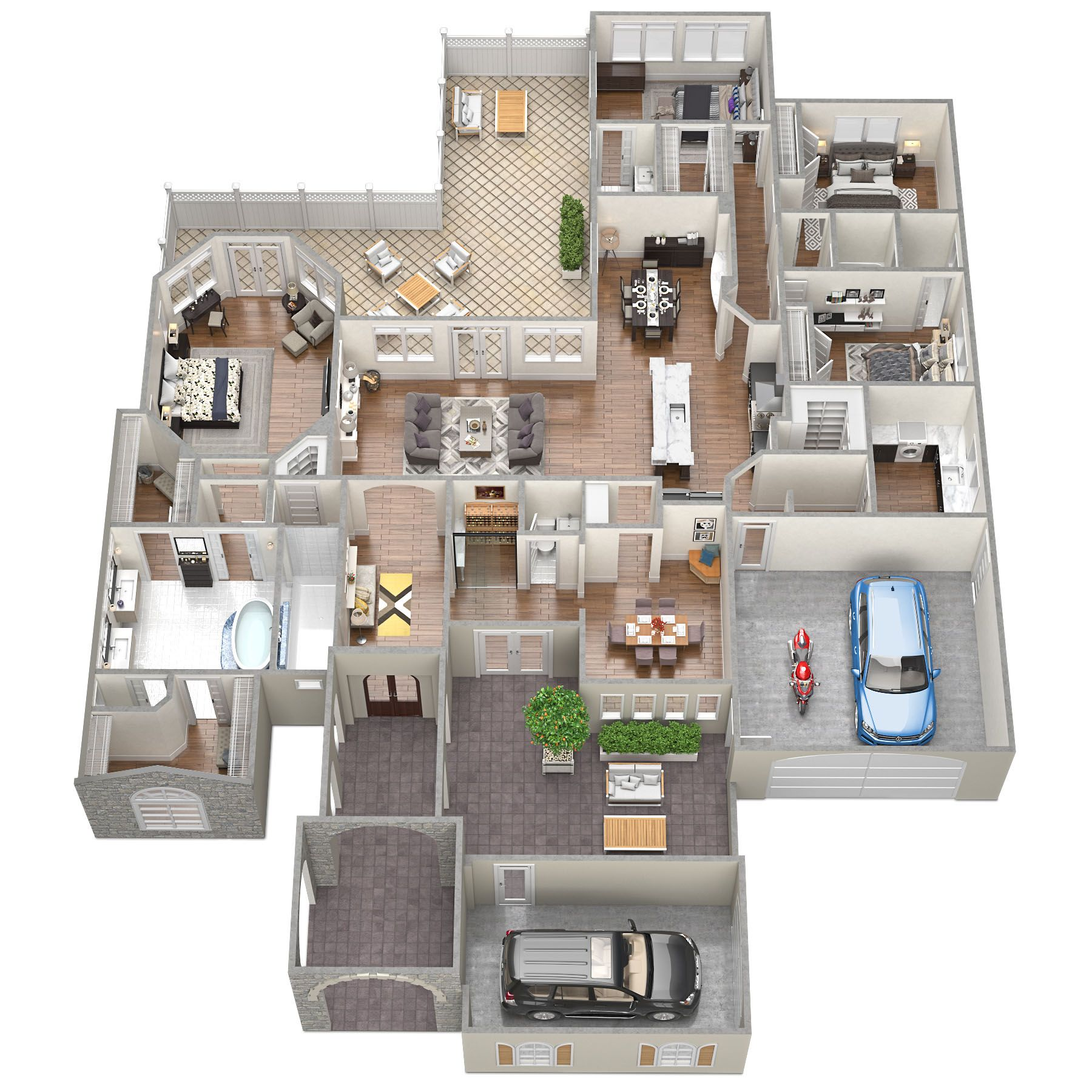 3d Floorplans For The Sawyer Sound Property Tsymbals Design In