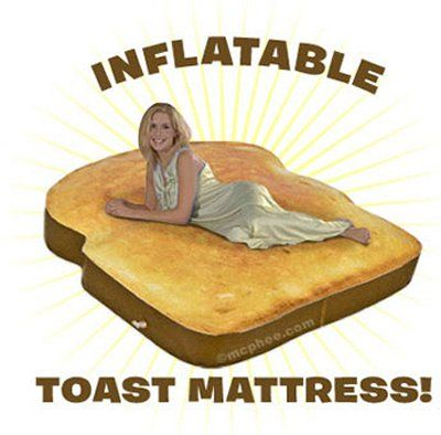 Weirdest Beds the toast #bed - seen on http://www.wedo-beds.co.uk/blog/top-100